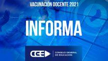 Concluyó la convocatoria 5 de Vacunación del Sector Educativo